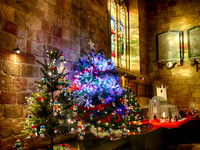 St John's Parish church Knaresborough Christmas Tree Festival 4-Dec-17